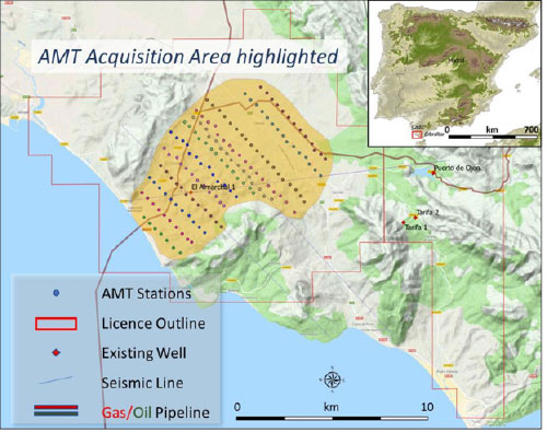 AMT Survey Outline and Stations in Tesorillo