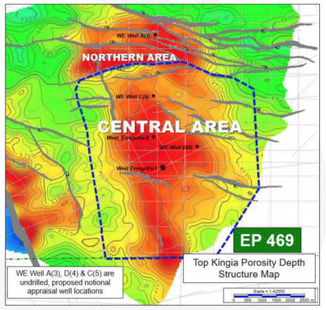 EP469 West Erregulla Field Northern and Central Areas